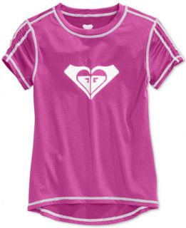 Roxy Little Girls Core Short Sleeve Rashguard   Swimwear   Kids
