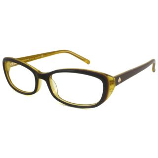 Kate Spade Readers Womens Magda Rectangular Aubergine/Yellow Reading