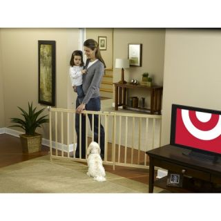 GuardMaster® III 490 Tall Super Wide Wood Slat Swing Baby and Pet
