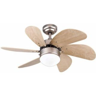 "Westinghouse 7814465 30"" Brushed Aluminum Turbo Swirl 6 Blade Indoor Ceiling Fan"