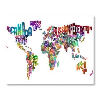 Americanflat World Map Word Wall Mural