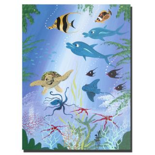 Trademark Fine Art Fish by Herbet Hofe Painting Print on Canvas HH003