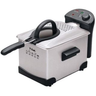 T fal FR1014002 Easy Pro Enamel 3 Liter Deep Fryer, Stainless Steel