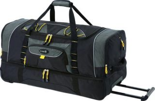 TPRC TPRC 30 2 Section Drop Bottom Rolling Duffel   Black with Yellow Trim