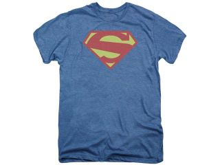 Superman 52 Solid Royal Distress Mens Premium Tee Shirt