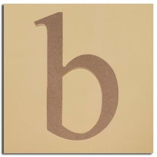 "Pack of 2 Decorative Expressive Unfinished Wood Lower Case Letter ""b"""