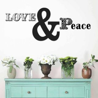 WallPops Love and Peace Wall Quote Decals