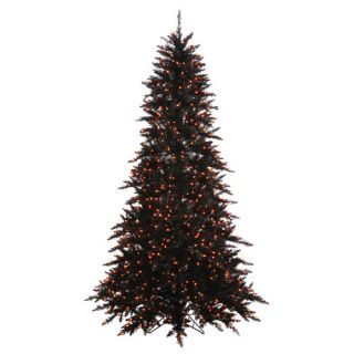 Vickerman 10 Black Fir Artificial Christmas Tree with 1150 Orange LED
