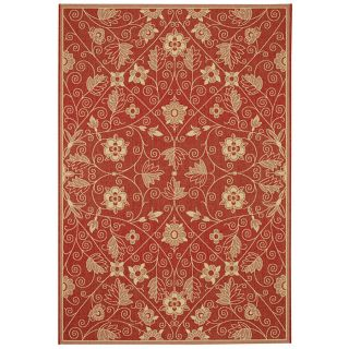 Capel Elsinore Garden Maze Poppy Indoor/Outdoor Area Rug