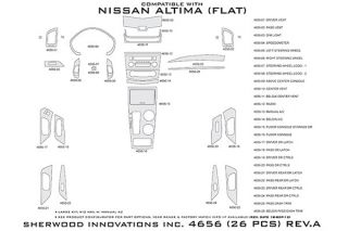 2013 Nissan Altima Wood Dash Kits   Sherwood Innovations 4656 BI   Sherwood Innovations Dash Kits
