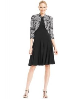 Jessica Howard Floral Print Embellished Dress and Jacket