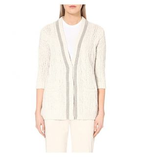 BRUNELLO CUCINELLI   Wool blend knitted cardigan
