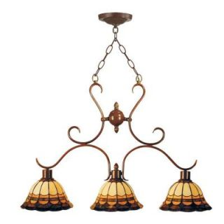 Dale Tiffany Tiffany Malcolm 3 Light Hanging Antique Bronze Chandelier DISCONTINUED STH11056