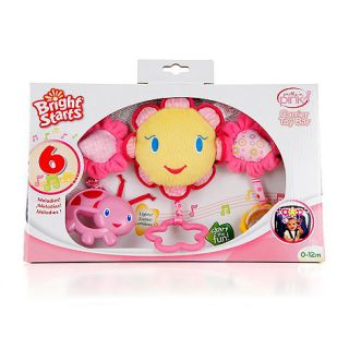 Bright Starts Pink carrier toy bar