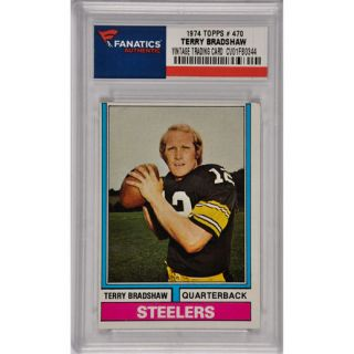 Terry Bradshaw Pittsburgh Steelers 1974 Topps #470 Card