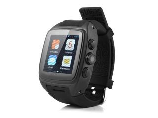iMacwear M7 3G Smart Watch Phone Android 4.4 Dual core IPS Wristwatch GPS Black