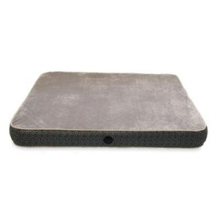 K&H Pet Products Superior Orthopedic Small Gray Paw Bone Print Dog Bed 4602