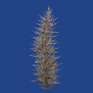 Vickerman 3 ft Pre Lit Slim Artificial Christmas Tree with White Incandescent Lights