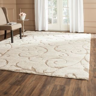 Safavieh Florida Shag Cream/ Beige Rug (8 Square)