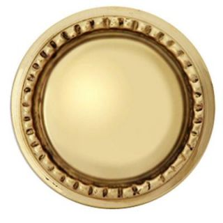 Copper Mountain Hardware Georgian Roped 1 1/2 in. Polished Brass Round Cabinet Knob SH129US3L