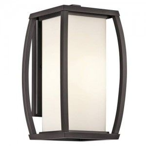 Kichler 49338AZ Outdoor Light, Transitional Wall Lantern 1 Light Fixture   Architectural Bronze