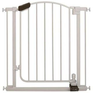 Summer Infant Step to Open 32 in. Pressure Mounted Gate in Silver 27190