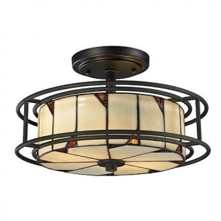 Dale Tiffany Woodbury Semi Flush, Ceiling Mounted Lamp   7244891