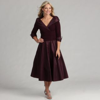 Jessica Howard Womens Eggplant 3/4 sleeve Dress   Shopping