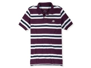 Aeropostale Mens A87 Striped Rugby Polo Shirt 433 S