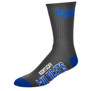 For Bare Feet College Big Logo Socks   Mens   Basketball   Accessories   Kentucky Wildcats   Charcoal/Multi