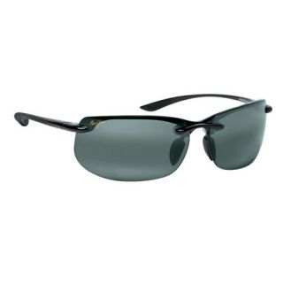 Maui Jim Banyans Sunglasses   Gloss Black Frame with Neutral Grey Lens