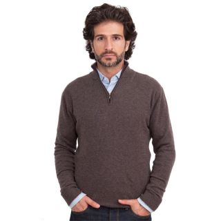 Luigi Baldo Italian Made Mens Cashmere 1/4 Zip Sweater   15747674