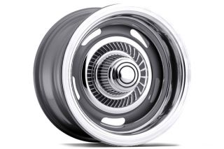 "Vision 55 5804   5 x 114.3mm or 5 x 120.65mm Dual Bolt Pattern Silver 15"" x 8"" 55 Silver Rally Wheels   Steel Wheels & Rims"