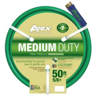 Apex 5/8 in. Dia x 50 ft. Medium Duty Water Hose 8535 50