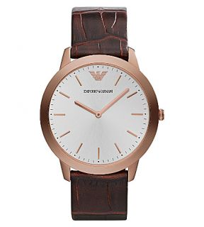 EMPORIO ARMANI   AR1743 stainless steel and leather watch