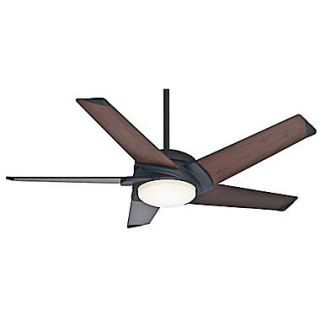 Casablanca Fan 54 Stealth DC 5 Blade Ceiling Fan w/Remote; Maiden Bronze w/Dark Walnut Blades