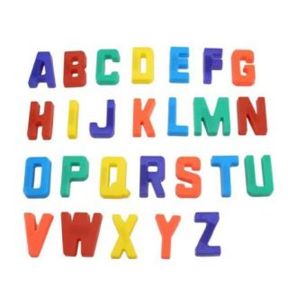 26pcs English Letters Alphabet White Board Refrigerator Magnets Decor