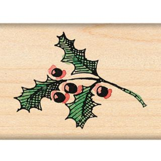 Penny Black Mounted Rubber Stamp 1.5X1.5 Holly Sprig