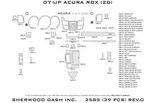 2007 2012 Acura RDX Wood Dash Kits   Sherwood Innovations 2585 R   Sherwood Innovations Dash Kits