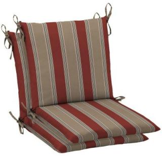 Hampton Bay Chili Stripe Mid Back Outdoor Chair Cushion JC33552X D9D1