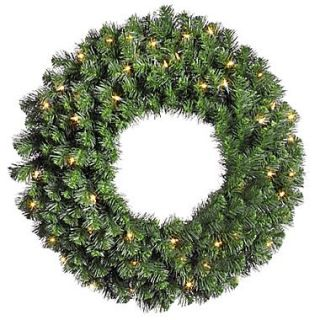 Vickerman 42 Prelit Douglas Fir Wreath With 370 Tips & 100 Clear Dura Lit Light, Green