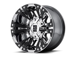 XD Series XD822 Monster II 20x9 5x139.7/5x150 +18mm PVD Chrome Wheel Rim