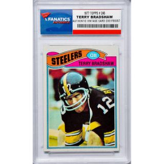 Terry Bradshaw Pittsburgh Steelers 1977 Topps #245 Card