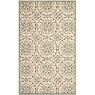 Safavieh Four Seasons Green/Brown 8 ft. x 10 ft. Indoor/Outdoor Area Rug FRS218A 8