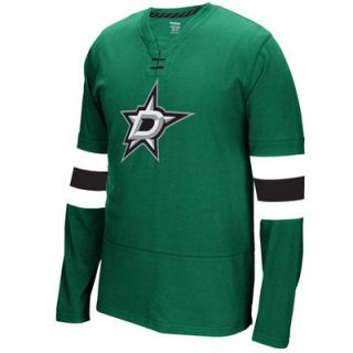 Dallas Stars Reebok Jersey Long Sleeve T Shirt   Kelly Green
