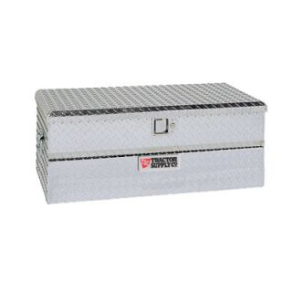 Mid Size Single Lid Aluminum Chest Tool Box, Silver, 37 in. L