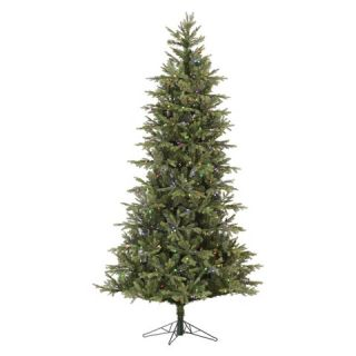 Pre Lit Elk Frasier Fir Slim Artificial Christmas Tree with LED Lights