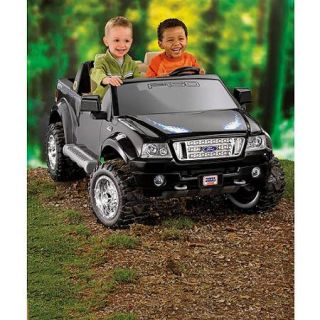 Fisher Price Power Wheels Black Ford F150 12 Volt Battery Powered Ride On