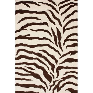 nuLOOM Safari Zebra Brown Rug