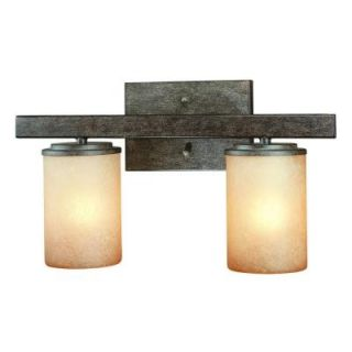 Hampton Bay Alta Loma 2 Light Dark Ridge Bronze Bath Light 25055